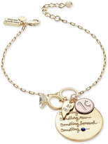Kate Spade Gold-Tone Tie-The-Knot Charm Bracelet