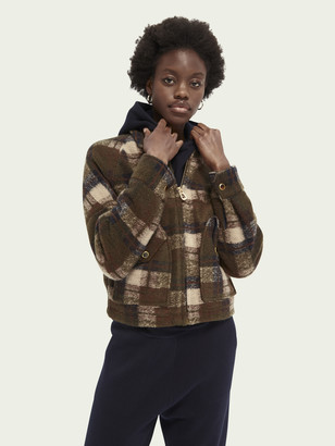 Scotch & Soda Short checked wool-blend jacket   Women
