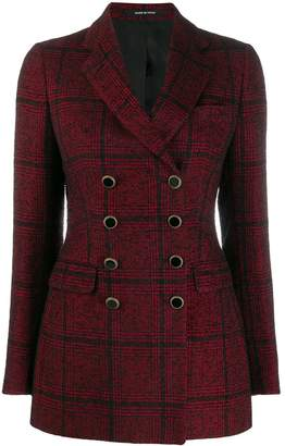 Tagliatore double breasted tartan blazer