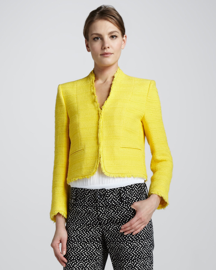 Alice + Olivia Princeton Boxy Tweed Jacket