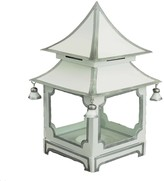 The Well Appointed House White and Silver Mini Pagoda Candleholder
