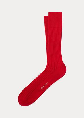 Ralph Lauren Rib-Knit Cotton Trouser Socks