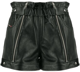Diesel Zipped Biker Shorts