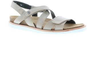 Wolky Leather Adjustable Casual Sandals - Sunstone