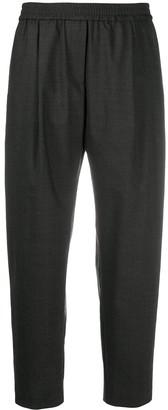 Aspesi Elasticated-Waist Cropped Trousers