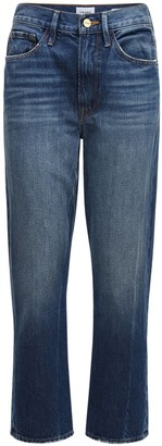 Frame Le Piper Mid Rise Straight Denim Jeans