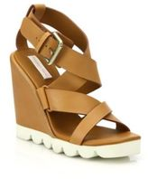 See by Chloe Bisco Leather Wedge Sandals