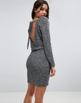 Asos Sweater Dress With Tie Back