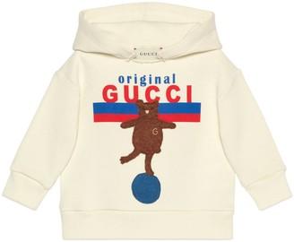 Gucci Baby 'Original Gucci' print and bear sweatshirt