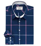 Thomas Pink Hollman Check Classic Fit Button Cuff Shirt
