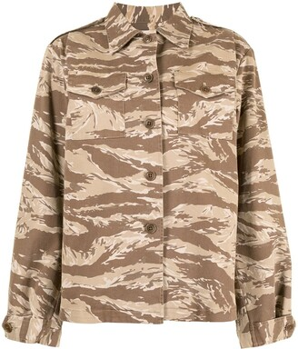 Nili Lotan Camouflage Print Shirt