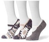 Muk Luks Women's Aloe Maryjane's 3 Pair Sock Pack - Gray One Size