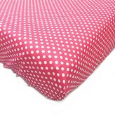 One Grace Place Simplicity Hot Pink Changing Pad Cover, Hot Pink and White by