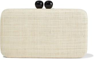 Kayu Dottie Woven Straw Box Clutch