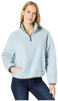 Sloane Levi's(R) Premium Levi's(r) Premium Sherpa Pullover (Baby Blue) Women's Clothing