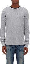 Rag & Bone Men's Standard Issue Waffle-Knit Cotton T-Shirt-GREY
