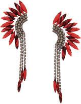Elizabeth Cole Coral Mohawk Crystal Earrings