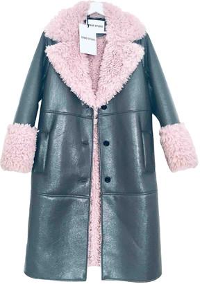 Stand Studio Grey Faux fur Coats
