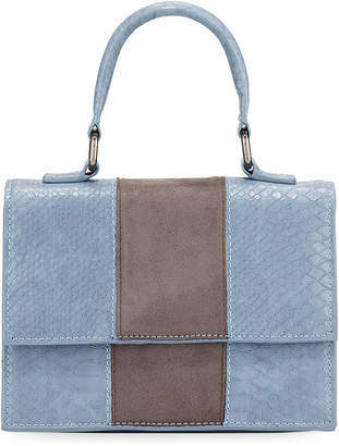 Neiman Marcus Two-Tone Top-Handle Satchel Bag