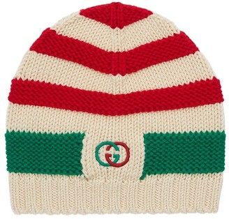 Gucci Knit Wool Hat W/ Embroidered Logo
