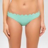 Vanilla Beach Women's Scalloped Hipster Bikini Swim Bottom