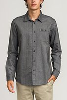 RVCA Men's Illusion Long Sleeve Woven Shirt