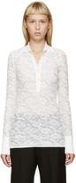 Stella McCartney White Lace Polo