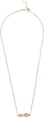 ALIITA Nadadora Completo Rayada 9kt gold necklace