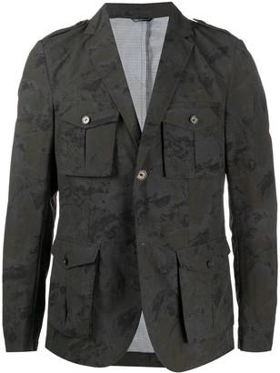 Daniele Alessandrini Camouflage-Print Cargo Pockets Blazer