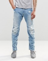 G Star G-Star Jeans Arc 3D Lose Tapered Light Aged Destroy