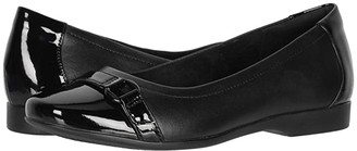 Clarks Un Darcey Go (Black Leather Combination) Women's Shoes