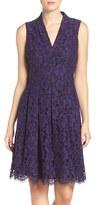 Vince Camuto Women's Lace Jacquard Fit & Flare Dress