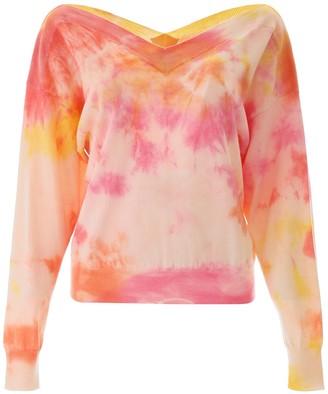 MSGM Tie-Dye V-Neck Sweater