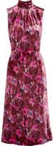 Prada Floral-print Velvet Midi Dress - Pink