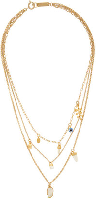 Isabel Marant Gold Multi-Chain Necklace
