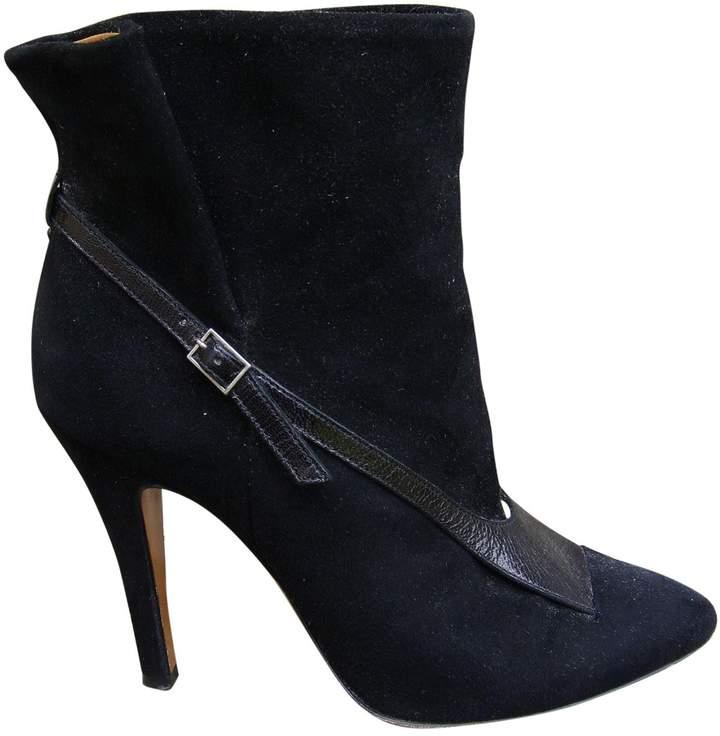 Maison Margiela Black Suede Ankle boots