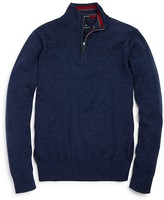 Tailorbyrd Boys' Quarter Zip Wool Sweater - Sizes S-XL