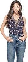 GUESS Women's Beau Flower Mesh Bodysuit