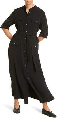 Marina Rinaldi Dadaista Belted Long Shirtdress