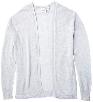 Michael Stars Noreen Linen Blend Cardigan Sweater (Coastal) Women's Clothing