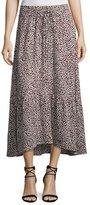 A.L.C. Holly A-Line Silk Midi Skirt