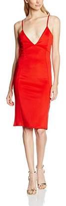 boohoo Women's Enia Strappy Plunge Neck Bow Back Midi Body Con Plain Sleeveless Dress,8