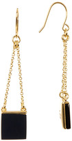 Trina Turk Double Chain Square Drop Earrings