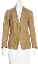 Dries Van Noten Metallic-Accented Linen-Blend Blazer