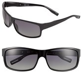 BOSS Men's 65Mm Polarized Sunglasses - Shiny Black