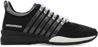 DSQUARED2 251 Nylon & Nabuck Low-Top Sneakers