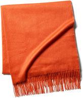 One Kings Lane Cashmere Throw, Furnace Orange