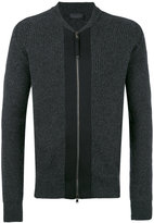 Diesel Black Gold ribbed cardigan - men - Polyamide/Spandex/Elastane/Wool/Artificial Leather - S