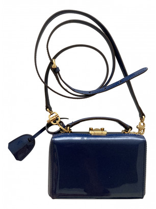 Mark Cross Grace Navy Patent leather Handbags