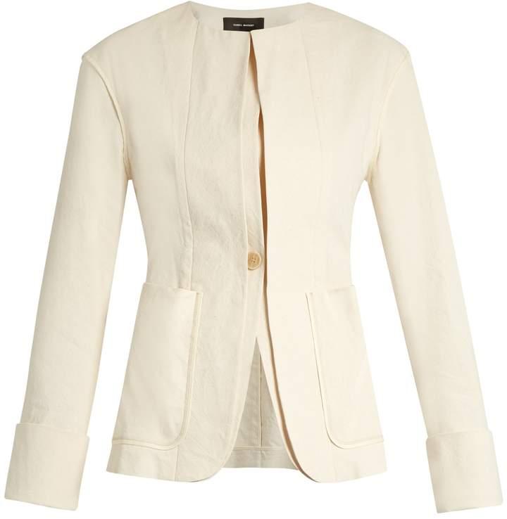 Isabel Marant Honey collarless cotton-blend jacket